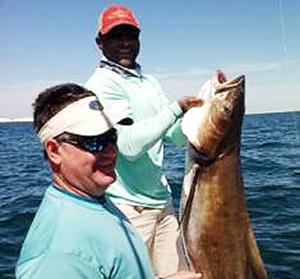 Destin Nearshore Gulf Fishing - Beach Fishing - Big Cobia