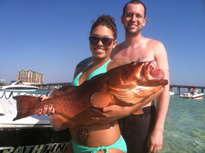 Destin Nearshore Fishing - Red Grouper