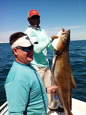 Capt LW and Keith: Nearshore Gulf Cobia Fishing