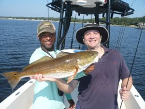Destin Inshore Charter Redfish Fishing